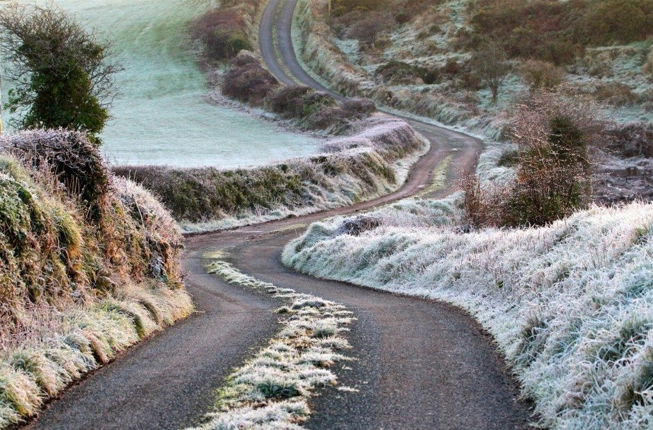 Frosty morning on the lane