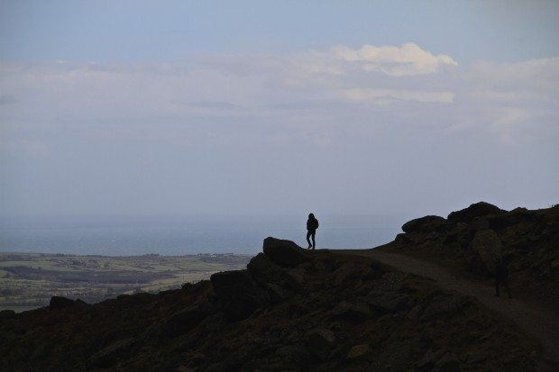 Blue-sky-sea-man-Comeragh-Waterford