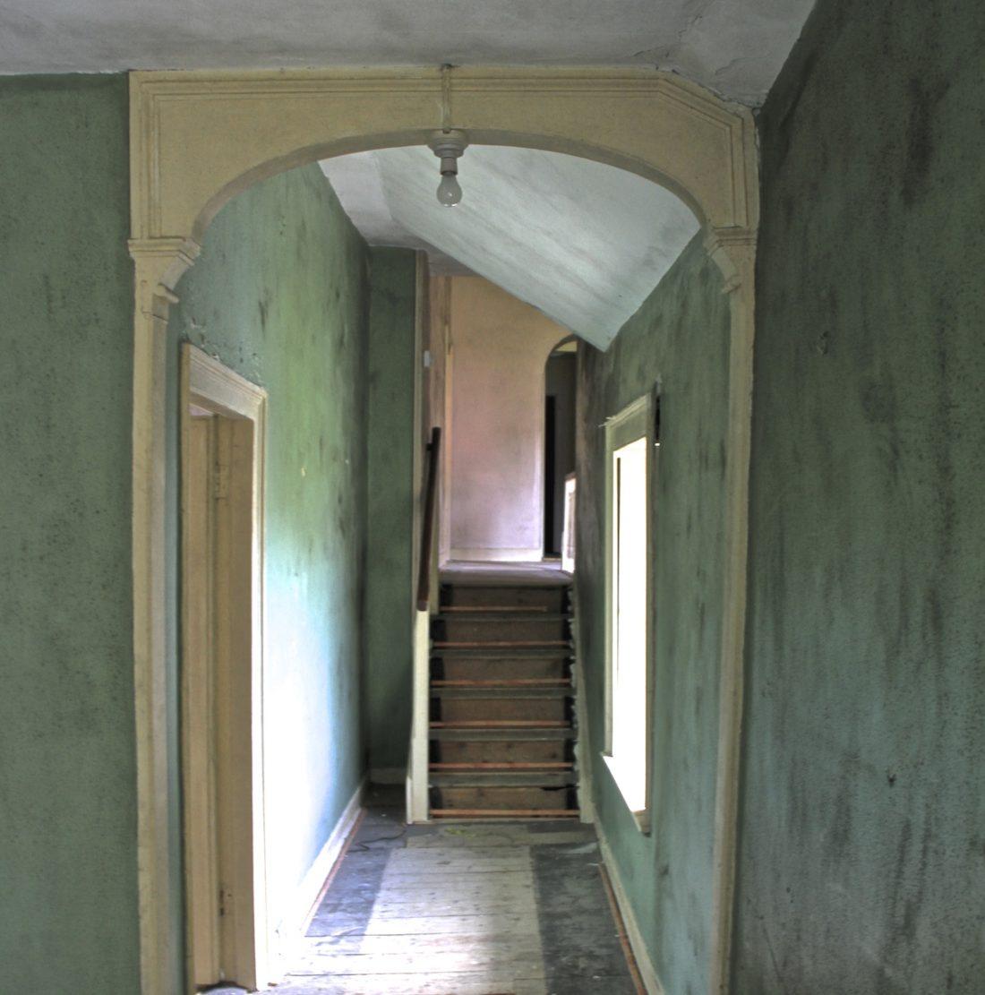 teal-hallway