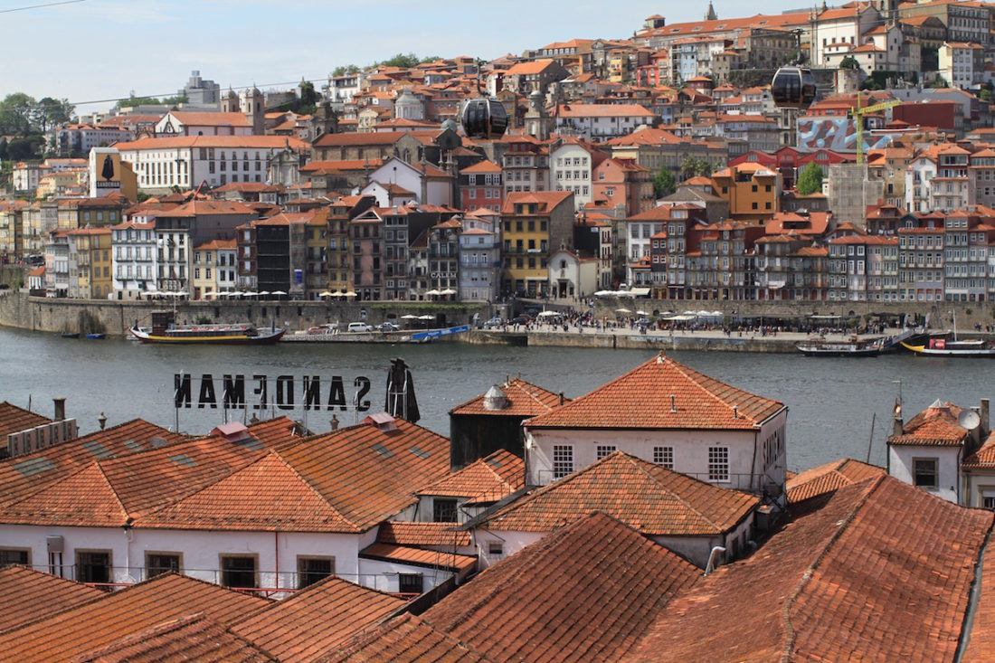 Porto at the mouth of the River Douro